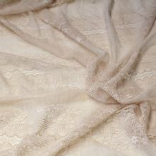 Tea Shaded Floral Swiss Lace Fabric 150cm Wide